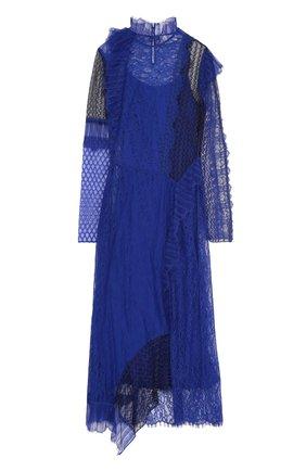 Приталенное кружевное платье-миди | Фото №1