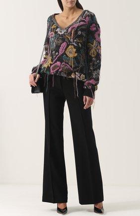Пуловер фактурной вязки с V-образным вырезом A.F.Vandevorst разноцветный | Фото №1