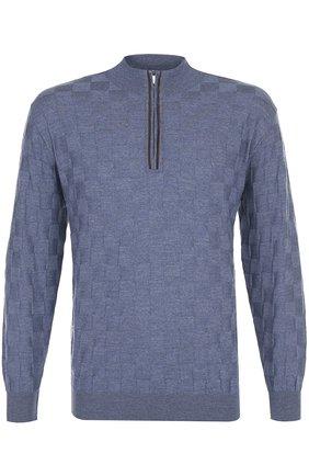 Джемпер фактурной вязки из смеси шерсти и кашемира | Фото №1