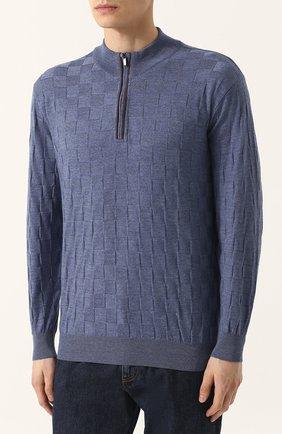 Джемпер фактурной вязки из смеси шерсти и кашемира | Фото №3