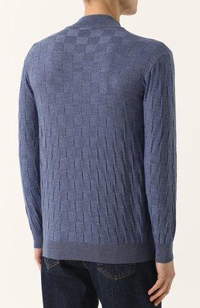 Джемпер фактурной вязки из смеси шерсти и кашемира | Фото №4