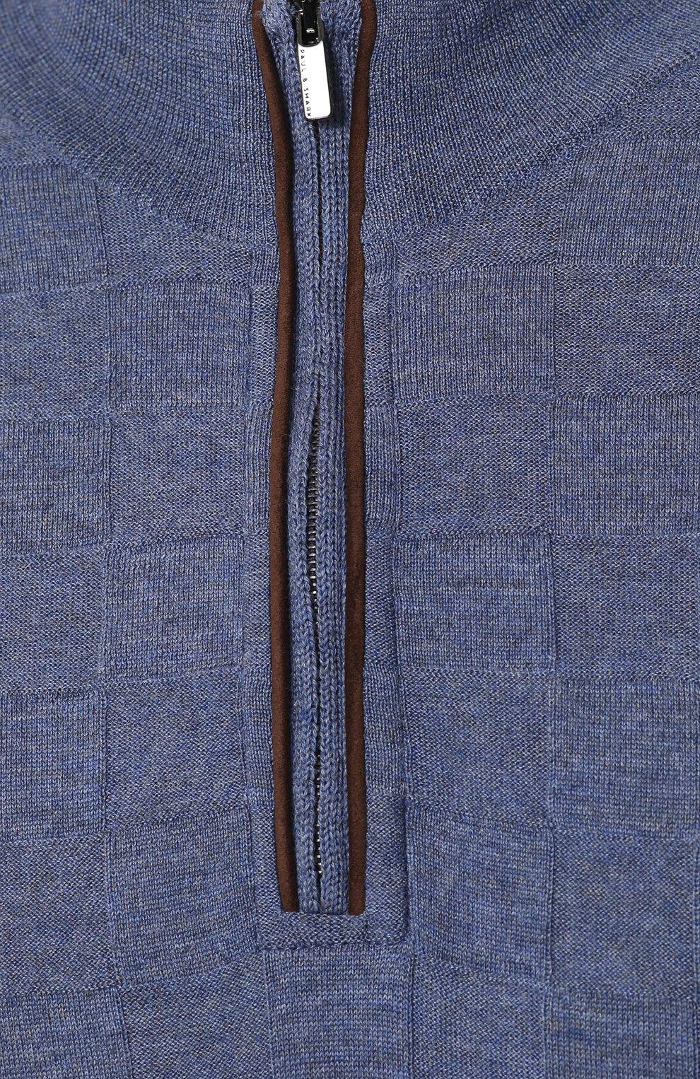 Джемпер фактурной вязки из смеси шерсти и кашемира | Фото №5