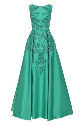 Приталенное платье-макси с декоративной отделкой | Фото №1