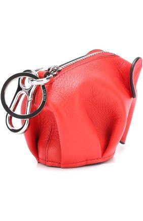 Кожаный брелок Elephant Loewe красный | Фото №1