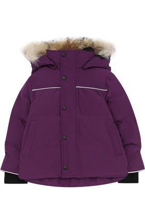 Пуховая куртка Snowy Owl с меховой отделкой на капюшоне | Фото №1
