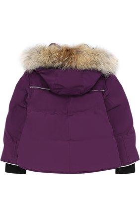 Пуховая куртка Snowy Owl с меховой отделкой на капюшоне | Фото №2