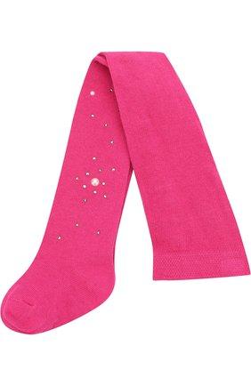 Детские колготки из хлопка с жемчужинами LA PERLA розового цвета, арт. 47718/000-0 | Фото 1