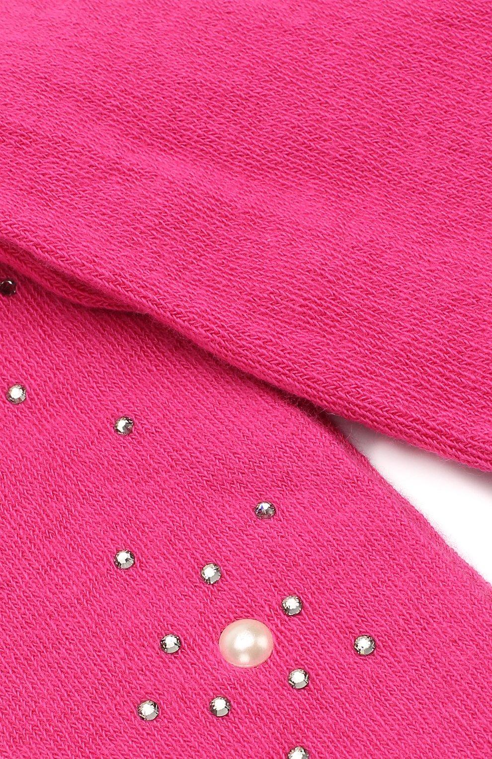 Детские колготки из хлопка с жемчужинами LA PERLA розового цвета, арт. 47718/000-0 | Фото 3 (Материал: Текстиль, Хлопок; Статус проверки: Проверено)
