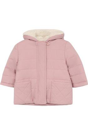 Детского утепленная куртка с капюшоном LORO PIANA розового цвета, арт. FAG3867 | Фото 1