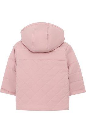 Детского утепленная куртка с капюшоном LORO PIANA розового цвета, арт. FAG3867 | Фото 2