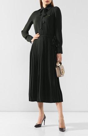 Женская кожаные туфли kate DOLCE & GABBANA серого цвета, арт. 0112/CD0039/AC062 | Фото 2