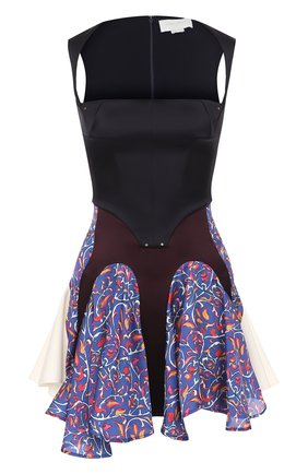 Приталенное мини-платье без рукавов Esteban Cortazar синее   Фото №1
