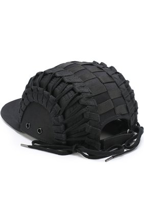 Хлопковая бейсболка Ktz черного цвета | Фото №1