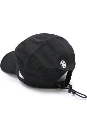 Хлопковая бейсболка Ktz черно-белого цвета | Фото №1