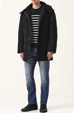 Шерстяной пуховик на молнии с капюшоном Mackintosh черная | Фото №1