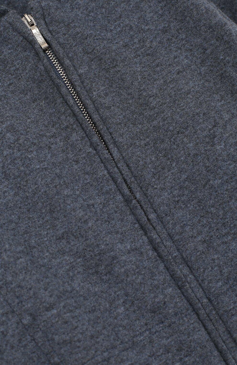 Спортивный кардиган с капюшоном из шерсти и кашемира | Фото №3