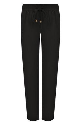Женские укороченные шерстяные брюки с эластичным поясом ESCADA SPORT черного цвета, арт. 5025772 | Фото 1