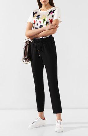 Женские укороченные шерстяные брюки с эластичным поясом ESCADA SPORT черного цвета, арт. 5025772 | Фото 2