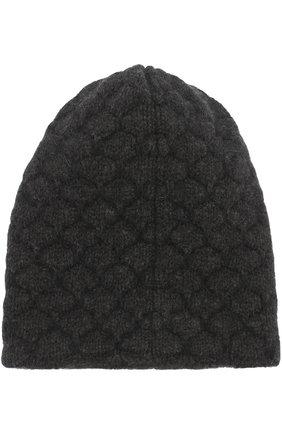 Шапка фактурной вязки Koshakova черного цвета | Фото №1