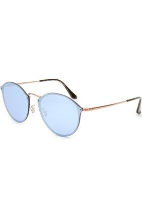 Женские солнцезащитные очки RAY-BAN голубого цвета, арт. 3574N-90351U | Фото 1