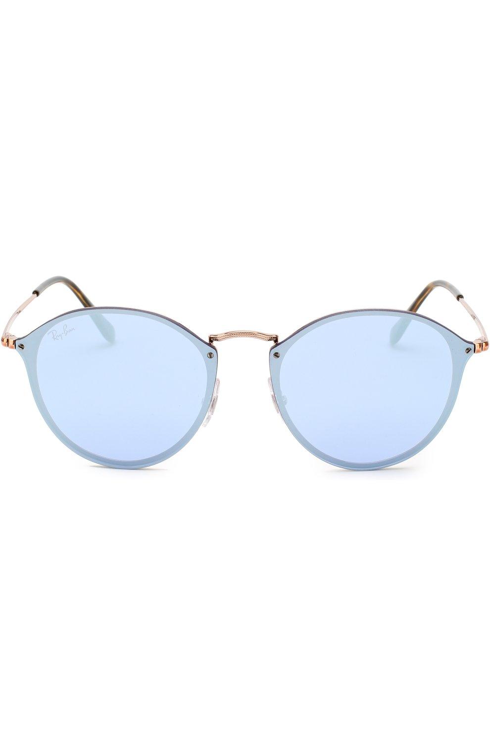 Солнцезащитные очки Ray-Ban голубые | Фото №3