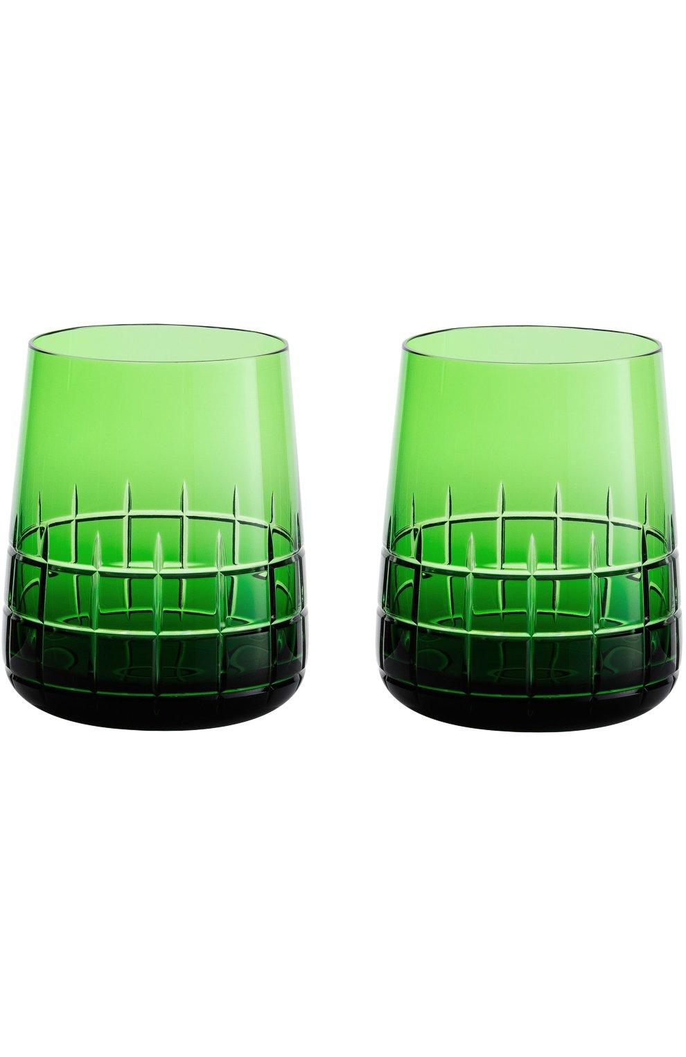 Мужского набор из двух стаканов graphik CHRISTOFLE зеленого цвета, арт. 07946450 | Фото 1