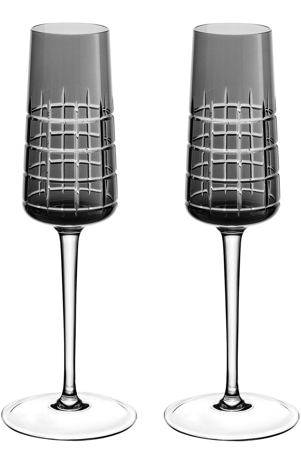 Мужского набор из двух фужеров для шампанского CHRISTOFLE черного цвета, арт. 07946010 | Фото 1