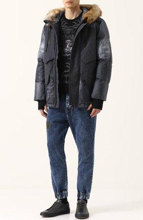Утепленная куртка на молнии с капюшоном   Фото №2