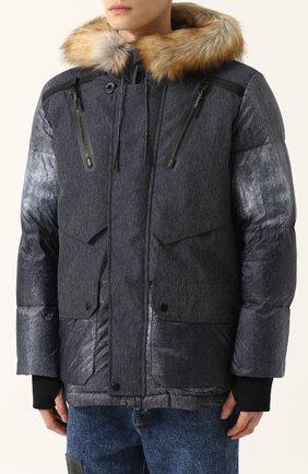 Утепленная куртка на молнии с капюшоном   Фото №3