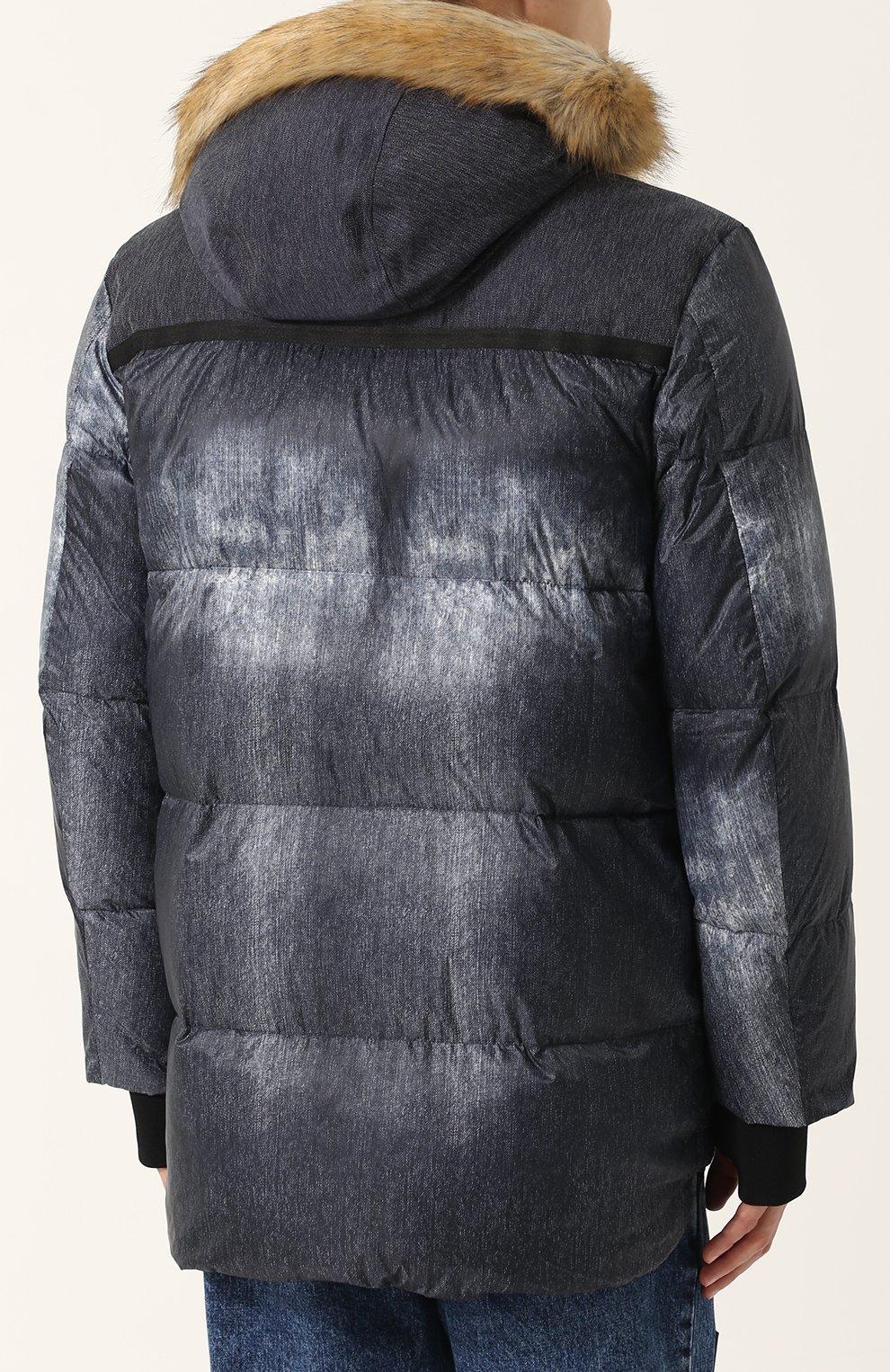 Утепленная куртка на молнии с капюшоном   Фото №4
