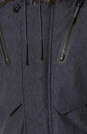 Утепленная куртка на молнии с капюшоном   Фото №5