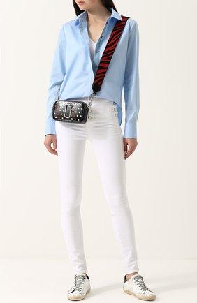 Женские однотонные джинсы-скинни с завышенной талией J BRAND белого цвета, арт. JB000249 | Фото 2