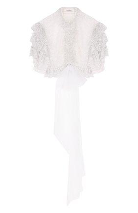 Укороченная кружевная блуза | Фото №1
