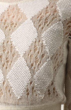 Приталенное вязаное платье-макси с длинным рукавом | Фото №5