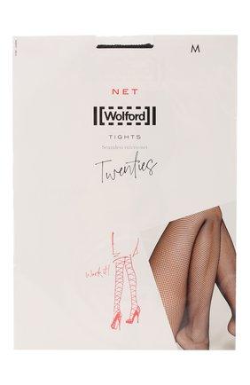 Женские капроновые колготки в сетку WOLFORD черного цвета, арт. 11889 | Фото 1