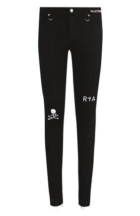 Хлопковые брюки прямого кроя с отделкой  | Фото №1