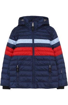 Детского стеганая куртка с контрастной отделкой BOGNER KIDS синего цвета, арт. 35204485 | Фото 1
