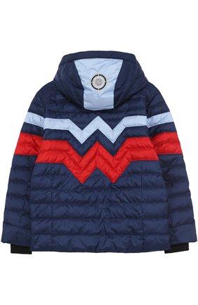 Детского стеганая куртка с контрастной отделкой BOGNER KIDS синего цвета, арт. 35204485 | Фото 2