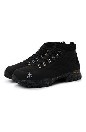 Мужские комбинированные ботинки loutreck PREMIATA черного цвета, арт. L0UTRECK/VAR113 | Фото 1