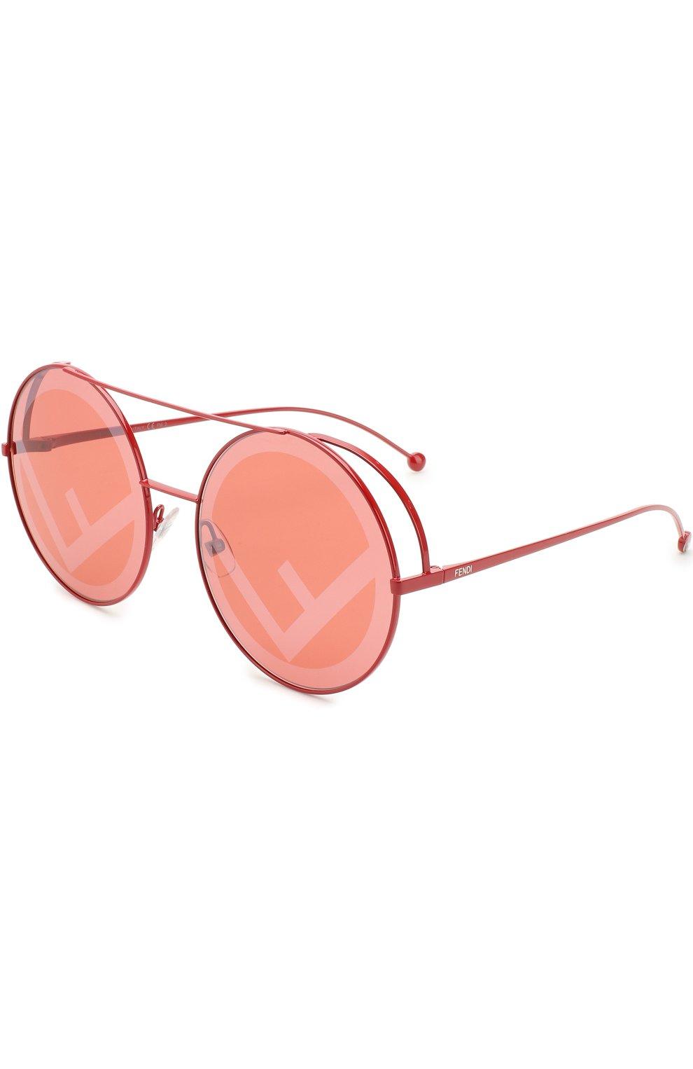 Женские солнцезащитные очки FENDI красного цвета, арт. 0285 C9A | Фото 1
