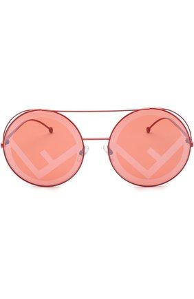 Женские солнцезащитные очки FENDI красного цвета, арт. 0285 C9A | Фото 2