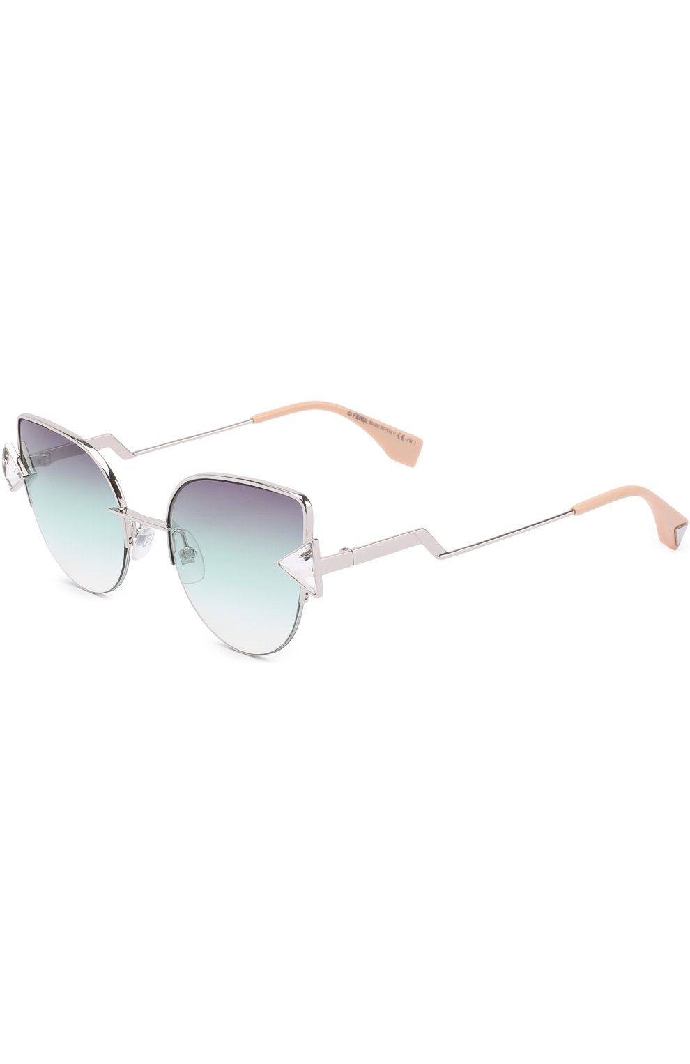 Женские солнцезащитные очки FENDI серебряного цвета, арт. 0242 VGV | Фото 1