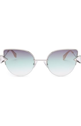 Женские солнцезащитные очки FENDI серебряного цвета, арт. 0242 VGV | Фото 3