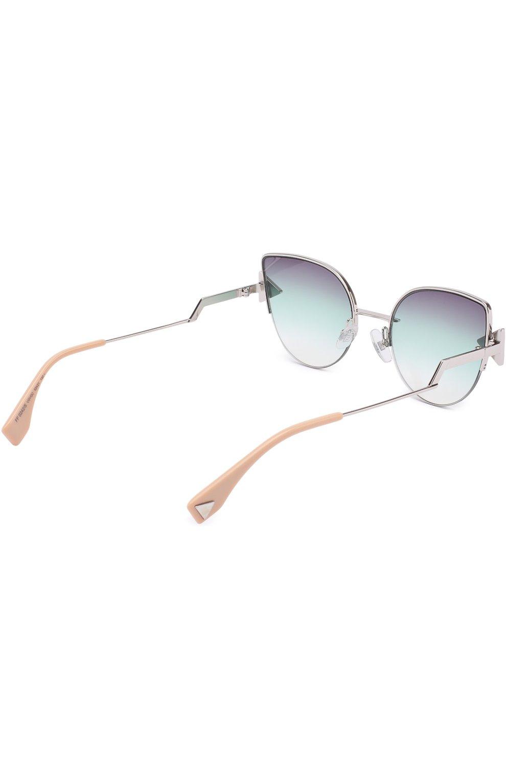 Женские солнцезащитные очки FENDI серебряного цвета, арт. 0242 VGV | Фото 4