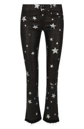 Укороченные кожаные брюки с принтом в виде звезд | Фото №1