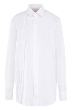 Однотонная блуза прямого кроя | Фото №1