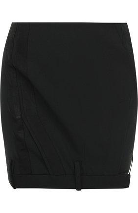 Однотонная мини-юбка A.F.Vandevorst черная | Фото №1