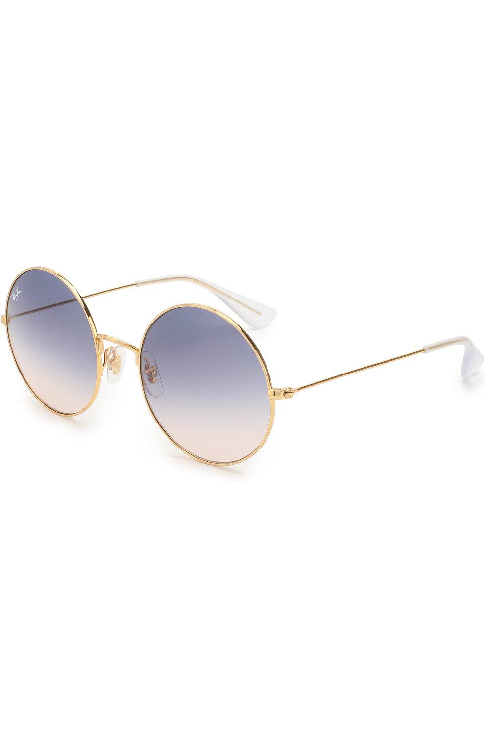 Женские солнцезащитные очки RAY-BAN золотого цвета, арт. 3592-001/I9 | Фото 1