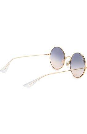 Женские солнцезащитные очки RAY-BAN золотого цвета, арт. 3592-001/I9 | Фото 3