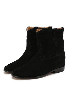 Женские замшевые ботинки crisi ISABEL MARANT черного цвета, арт. CRISI/B00103-00M103S | Фото 1